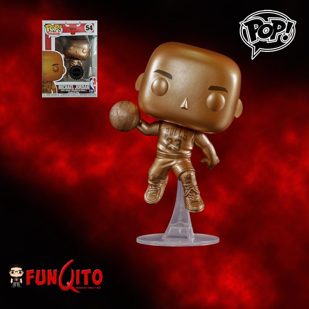 giro Acumulación siguiente  Michael Jordan Dorado Funko Pop! Exclusivo - FUNQITO